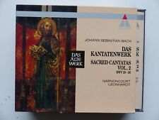 BOX CD  BACH Das Kantatenwerk HARNONCOURT LEONHARDT Vol 2 TELDEC