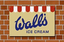 Wall's Ice Cream Metal Sign, Diner,Vintage, Retro, Collectable, 925