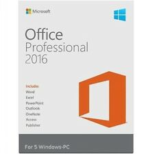 MICROSOFT OFFICE PROFESSIONAL 2016 SUITE | RETAIL SEALED | 5 PC