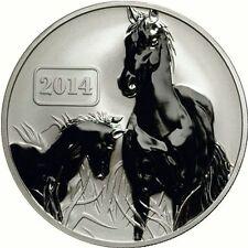 Tokelau 2014 Pferd / Horse 5$ Lunar Serie (2) 1 Unze Silber Reverse Proof!