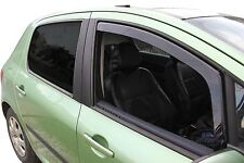 DPE26118 PEUGEOT 307 5 door 2000-2008  wind deflectors 2pc set TINTED HEKO