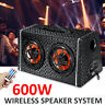 6'' 600W Car Bluetooth Speaker Audio Amplifier Home Subwoofer Party Kareoki Musi