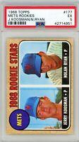 1968 Topps Mets Rookies Jerry Koosman Nolan Ryan #177 PSA 5 P897