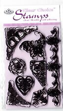 ORNATE SCROLLWORK - Mini Clear Stamp Set - Royal & Langnickel
