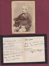 PHOTO 230115 APPERT Charles de REMUSAT politique et philosophe lettre autographe