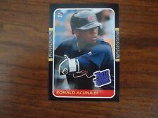Ron Ronald Acuna Jr 1987 Donruss Rookie Card # 13 Batting