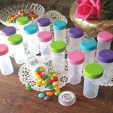 20 Pill Bottles Party Container Jars Pink Aqua Green Purple Caps 3814 DecoJars