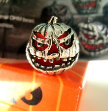 Ohm Trick or Treat Jack O' Lantern Bead Halloween Collector's BOTM AAH036 Silver