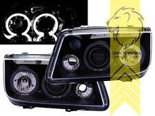 LED Angel Eyes Scheinwerfer für VW Bora Limousine Variant schwarz