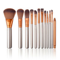 12pcs Makeup Brushes Kit Powder Foundation Eyeshadow Eyeliner Lip Brush Tool Set