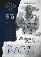 2016-17 Court Kings Sketches and Swatches #27 Rodney Stuckey Auto Jersey /35