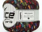 New Rainbow Ladder Yarn - Ice Multicolor Ladder Trellis RR Ribbon Yarn 42720 50g