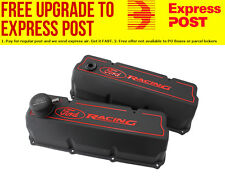 Ford Racing Aluminium Valve Covers (Black) Suit Ford 302-351C (Cleveland)