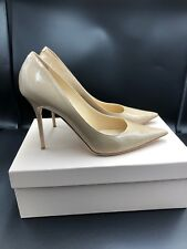 Jimmy Choo Abel Nude Patent Stiletto Pumps Heels Size Uk 7.5 Eu 40.5
