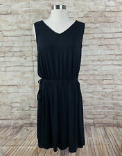 Merona Dress Womens Size L Large Tank Black Little Black Dress Summer Shift Tie