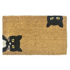 Entryways Peeping Cats Doormat - Indoor/Outdoor Biodegradable Coir Welcome Mat