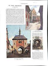Le vieux Bruxelles par George Garnir écrivain Belgique gare  ILLUSTRATION  1935