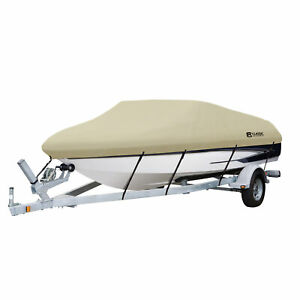 """Classic Accessories 20-087-122401-00 DryGuard Boat Cover 20-22 ft 106"""" Beam Widt"""