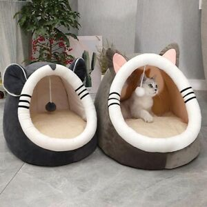Warm Soft Indoor Cat Cave Bed House Pet Dog Sleeping Comfortable Nest Kennel