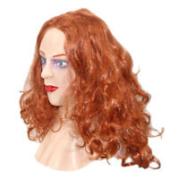 Realistic Female Mask Woman Face Latex Mask With Wig Crossdressing Transgender