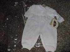 NWT NEW LITTLE THINGS MEAN A LOT 3M 3 MONTHS WHITE OUTFIT CHRISTENING BAPTISM