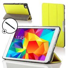 Pelle Giallo Smart Custodia Pieghevole per Samsung Galaxy Tab PRO 8.4 + Stilo