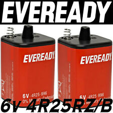 2x EVEREADY 4R25RZ/B 6v PJ996 Torch Lantern Battery 6 Volt 908 996 430 Batteries