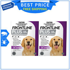FRONTLINE Plus for Dogs 20 to 40 Kg Flea Tick Treatment - 6 Doses