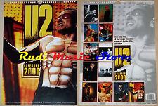 CALENDARIO U2 2000 no cd dvd lp mc tour live