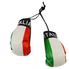 Italia Italy Country Flag Mini Boxing Gloves to Hang Over Your Automobile Mirror