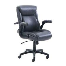 Home Office Work Desk Chair Rolling Adjustable Lumbar Bonded Leather Manager