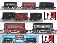 RIVAROSSI ATLAS 2499 VINTAGE RARO SET 3 CARRI TRASPORTO MINIERA USA BOX SCALA-N