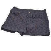 Authentic Louis Vuitton Logos Short Pants Denim Jeans Navy #36 Vintage AK28687
