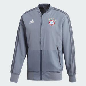 adidas FC Bayern Munich European Presentation Jacket Size XS Grey RRP £85 CW7305