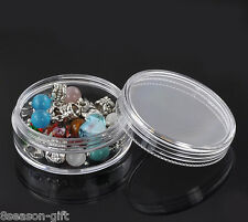 "8PCs Clear Round Bead Display Storage Container 5x5x2.1cm(2""x2""x7/8"")"