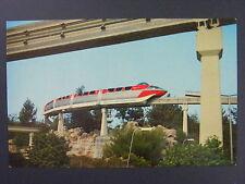 Disneyland Monorail Train Anaheim California CA Color Chrome Postcard 1960s