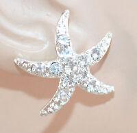 Orecchini set 3 pezzi donna ragazza stella argento strass brillantini E158