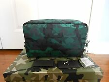 NWT Valentino Garavani $595 Camo Star-Print Nylon Clutch Wash Bag w/Box, Green