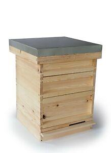 National Bee Hive Bee Keeping Pine 2 Super 1 Brood Beekeeping Beehive Flat Pack