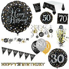 Gold Sparkle Celebration Birthday Party Supplies Decorations Plates Cups Listing