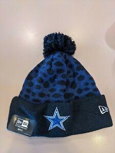 Dallas Cowboys NFL New Era On Field Pom Pom  Beanie Knit Lined Cap