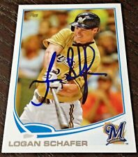 Logan Schafer - 2013 Topps Update Signed Autograph Auto Card #US-291 (Brewers)