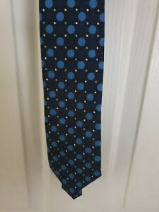 NUOVA MODA, Mens, Blue Spotted Tie, Polyester