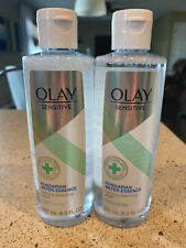 Olay Sensitive Hungarian Water Essence Calming Cleansing Water (2) 8oz Bottles