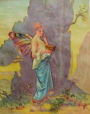 "1880's Folsom & Thayer Druggists ""Fedora"" Cologne Beautiful Fairy/Pixie Robe P41"
