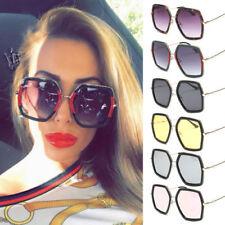 b3d850ce3b9 Oversize Large Fashion Square Luxury Vintage Women Green Red Eyewear  Sunglasses