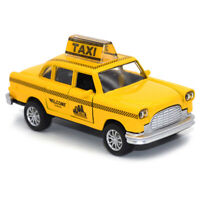1:36 New York Taxi Cab Alloy Diecast Car Model Toy Vehicle Yellow Gift Pull Back