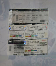 OSPREYS RUGBY TICKETS 2005 - 2017 GROUP of 5 inc LEINSTER, HARLEQUINS & SALE