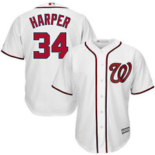 BRYCE HARPER #34 MAJESTIC COOLBASE AUTHENTIC WHITE WASHINGTON NATIONALS JERSEY #