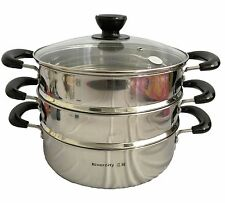 30cm  double Tier Steamer Steam pot Stainless Steel Cookware for Lobster,Fish